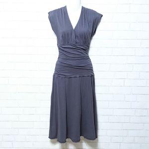 Velvet by Graham & Spencer Ruched Midi Dress L